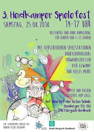 3. Heidkamper Spielefest zum Abschluss der Sommerferien