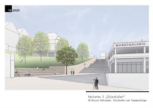 Ausschüsse tagen am 26. Februar zur Gestaltung der Schloßstraße – Neue Varianten der Treppengestaltung werden präsentiert