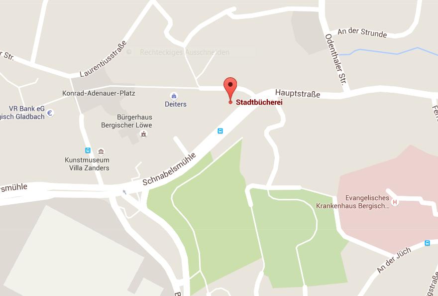 Anfahrt Stadt Bergisch Gladbach