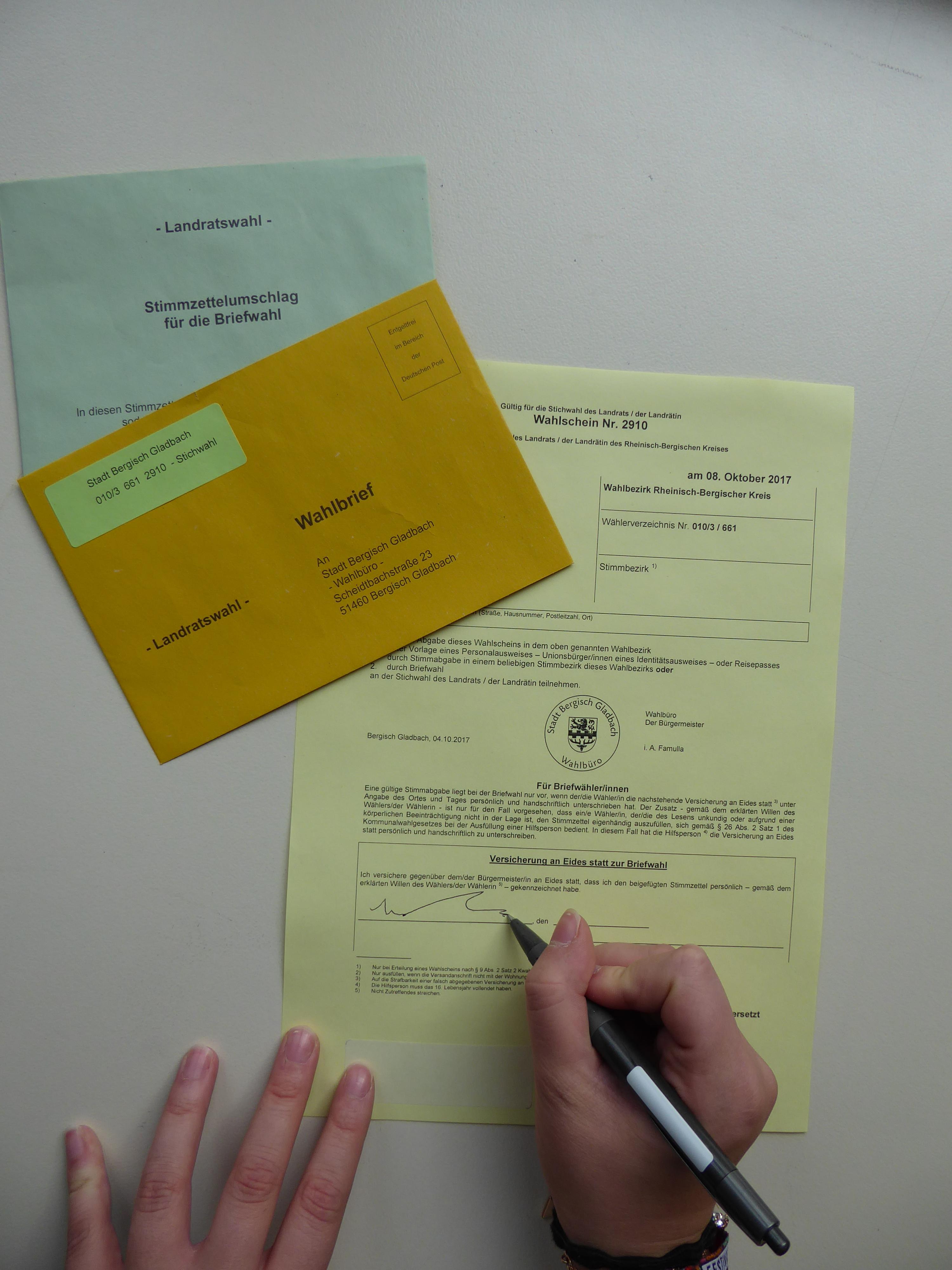 Briefwahlunterlagen Verloren